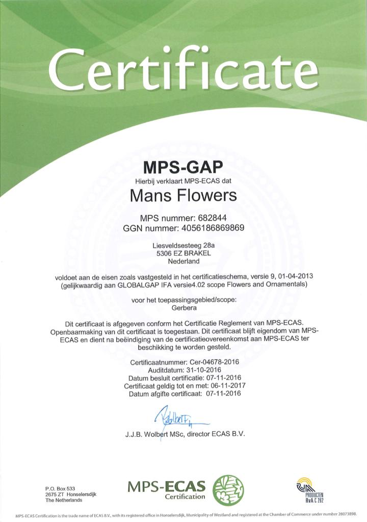 682844 certificaat MPS-GAP